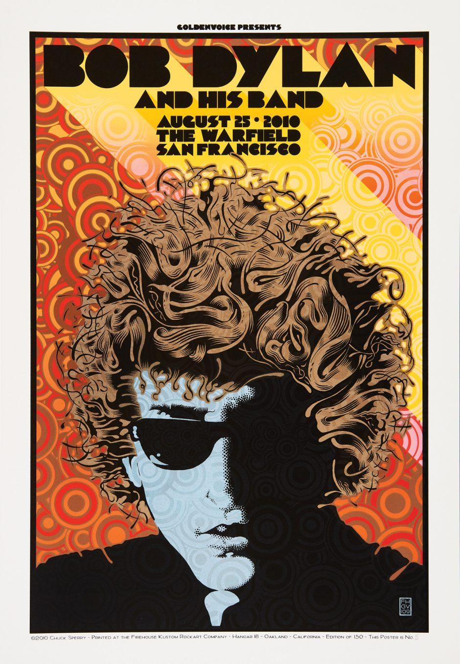 Bob Dylan concert poster