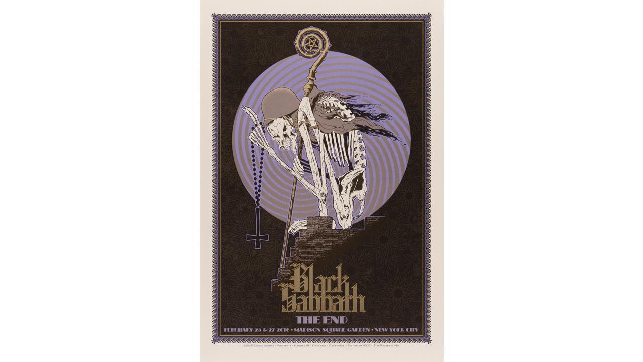 Black Sabbath concert poster