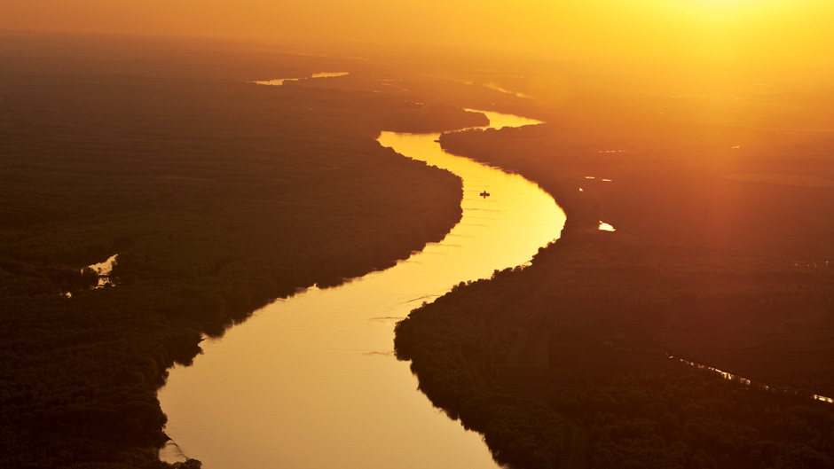 Missouri River at sunrise