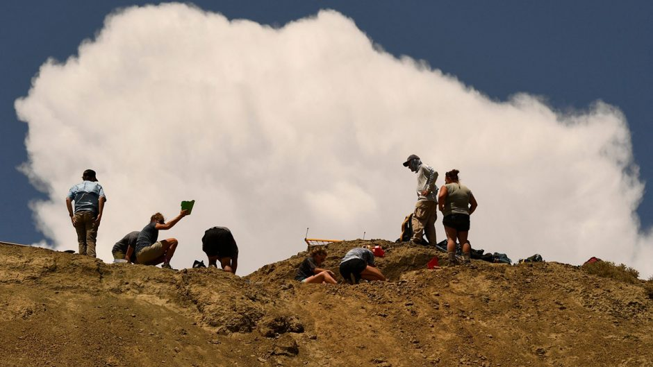 geologists working at a site
