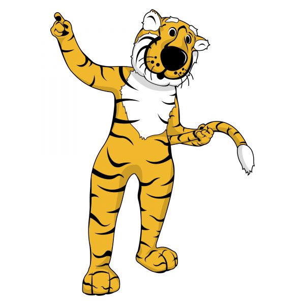 graphic of truman the tiger swinging his tail
