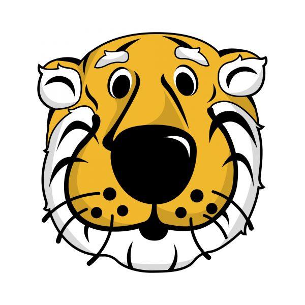 graphic of truman the tiger's head