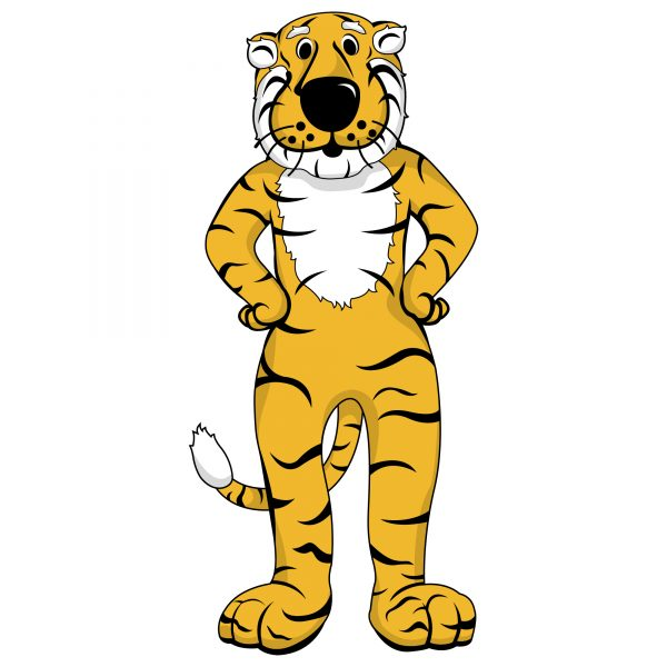 graphic of truman the tiger standing