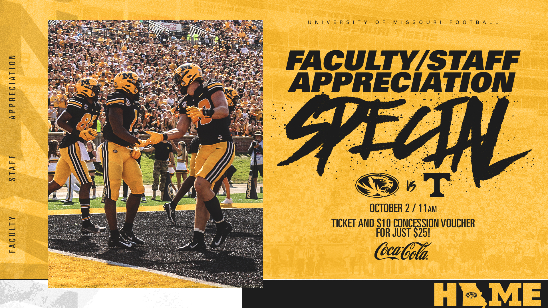 graphic for a faculty/staff appreciation event