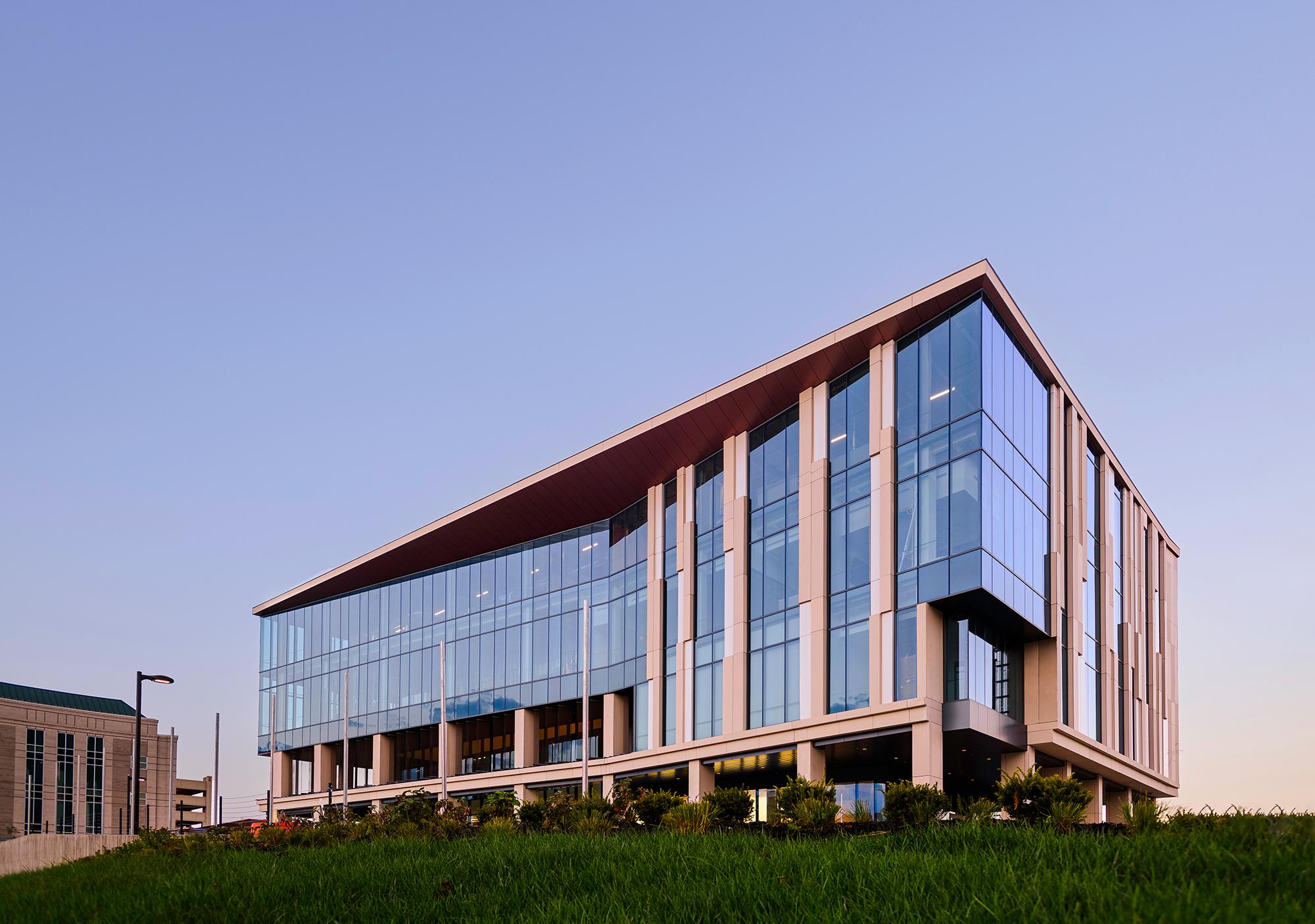 Roy Blunt NextGen Precision Health Building on the University of Missouri Campus in Columbia, Mo.