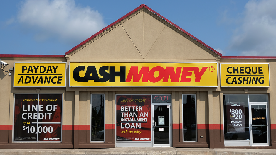 This is a photo of a payday lender.