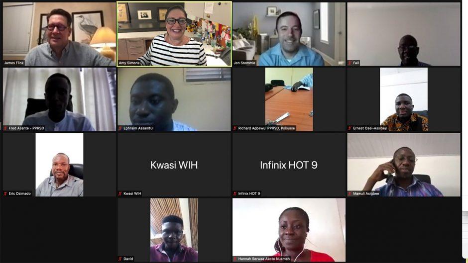 screenshot of zoom meeting