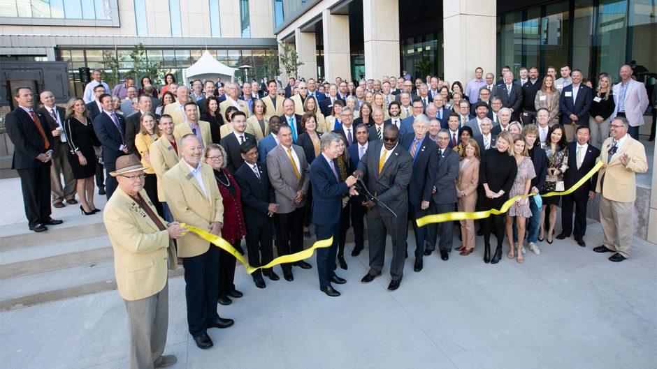 The University of Missouri celebrates the grand opening of the Roy Blunt NextGen Precision Health building.